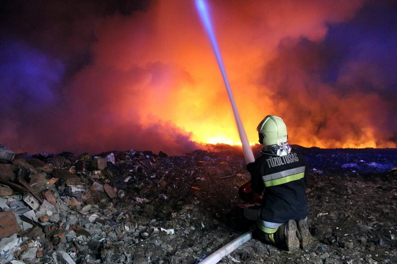 Tűz ütött ki a szeméttelepen, Nyíregyháza külterületén című videó előképe